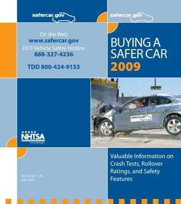 BUYING A SAFER CAR 2009 - SaferCar.gov