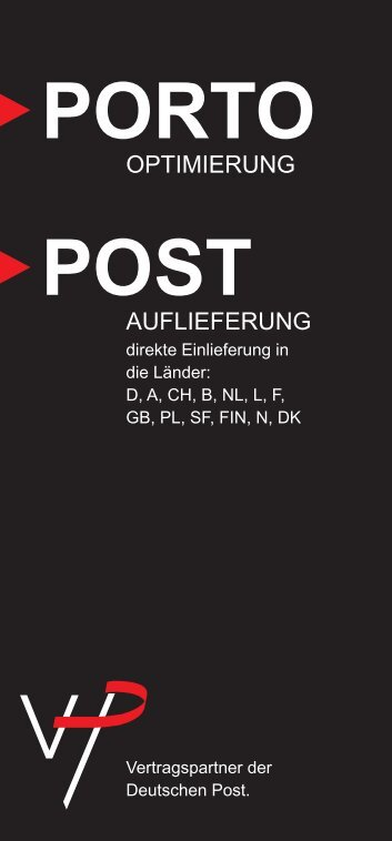 Porto Post - VHP Pantenburg Direktmarketing GmbH