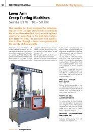 Lever Arm Creep Testing Machines Series CTM 10 – 50 kN
