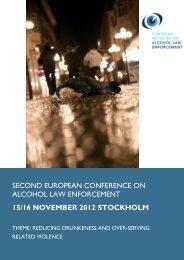 second european conference on alcohol law enforcement 15/16 ...