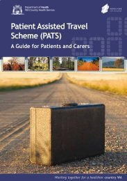 PATS: A guide for patients and their carers-booklet - WA Country ...