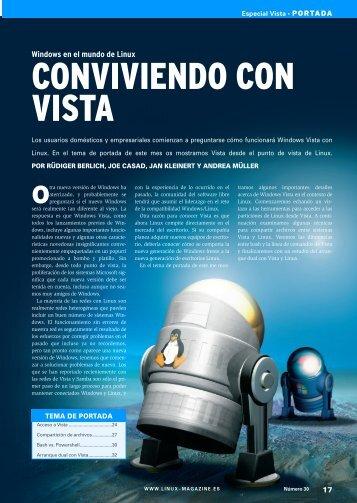 CONVIVIENDO CON VISTA - Linux Magazine