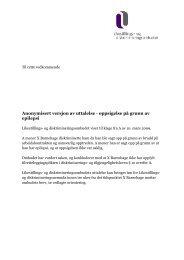 Les hele uttalelsen her (PDF). - Likestillings- og ...