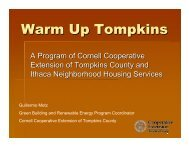 Warm Up Tompkins - Northeast Biomass Heating Expo 2013
