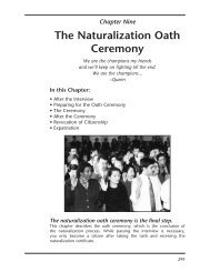 CHAPTER NINE: The Naturalization Oath Ceremony