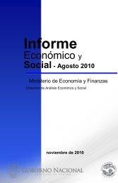 Informe Economico y Social - Agosto 2010 - Ministerio de Economía ...