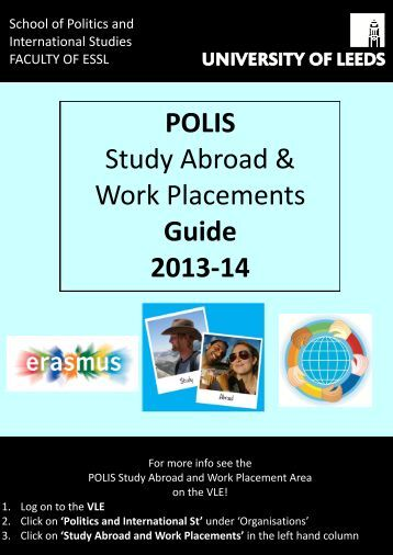 Study Abroad and Work Placement Guide 2012-13 - School of ...