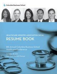 ReSUMe BOOK - Columbia Business School - Columbia University