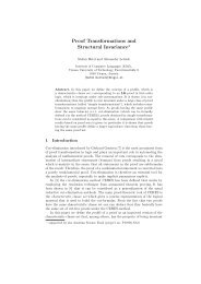 Proof Transformations and Structural Invariance*