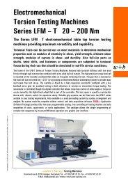 T 20 – 200 Nm - walter+bai ag  Testing Machines