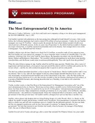 The Most Entrepreneurial City In America - Channeling Reality