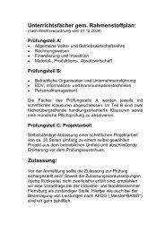VHS Brunsbüttel eV Geprüfte/r Technische/r Betriebswirt/in