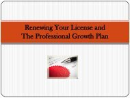 Renewing Your License Professional Growth Plan - Center Grove ...