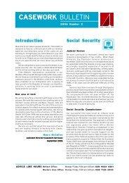 Casework Bulletin 2004 #1 - Law Centre (NI)