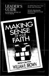 Leader's Guide to Making Sense of Your Faith - Cedarville University