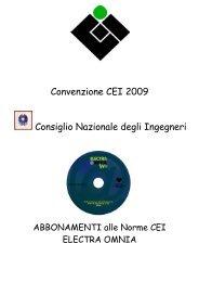 Convenzione CEI 2009 Consiglio Nazionale degli Ingegneri