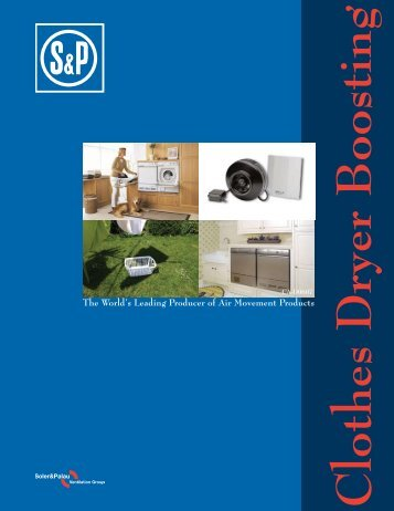 S&P Dryer Boosting Catalog (PDF file) - HVACQuick