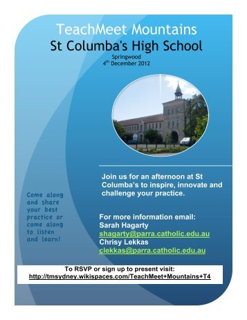 Join us for an afternoon at St Columba's to inspire, innovate and ...