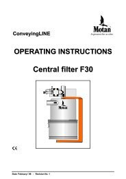 ConveyingLINE OPERATING INSTRUCTIONS Central filter F30