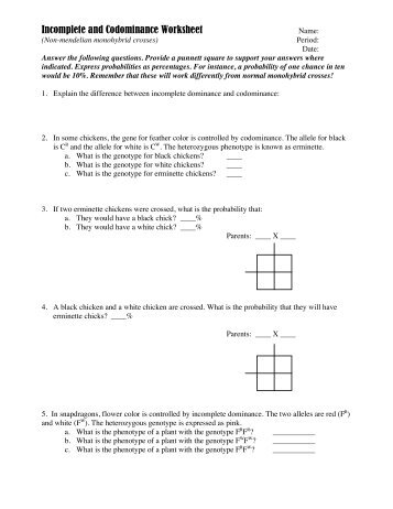 Incomplete-and-codominance-worksheet-answers & Worksheets ...