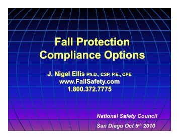 Fall Protection Fall Protection Compliance Options p p p p