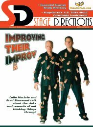 January Issue - Stage Directions Magazine