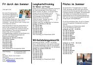 Fit durch den Sommer - Volkshochschule Husum