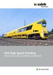 HSG High Speed Grinding - Präventives Schienenschleifen mit 80 ...