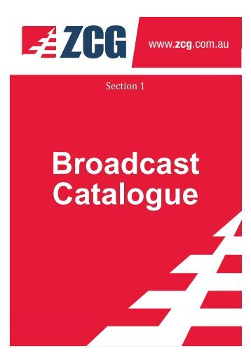 ZCG Scalar Broadcast Antennas and Accessories Catalogue