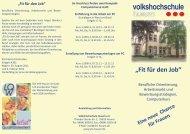 Fit für den Job - Volkshochschule Husum