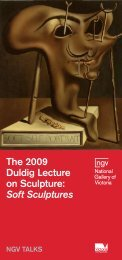 The 2009 Duldig Lecture on Sculpture: Soft Sculptures