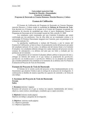3. Pauta EXAMEN DE CALIFICACIÓN - Facultad de Filosofía y ...