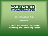Landfill Groundwater Compliance, Permitting and Local Siting ...