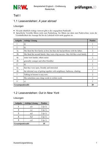 Auswertung Englisch - Theodor-Heuss-Schule