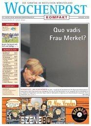 Quo vadis Frau Merkel?