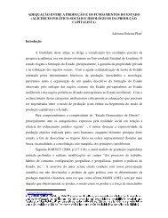 adequação entre a produção e os fundamentos do estado (alicerces ...