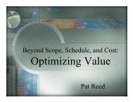 Optimizing Value