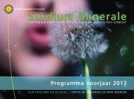 Agenda programma voorjaar 2013 - Studium Generale Universiteit ...