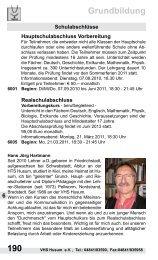190 Grundbildung - Volkshochschule Husum