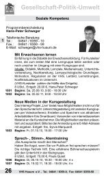 Gesellschaft-Politik-Umwelt - Volkshochschule Husum