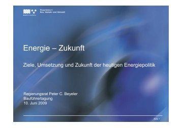 Energie – Zukunft