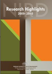Research Highlights 2009-10 - National Institute of Rural Development