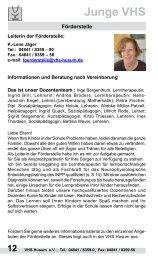 04841 / 8359-58 Junge VHS -  Volkshochschule Husum