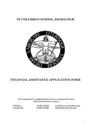 st columba's school, kilmacolm financial assistance application form