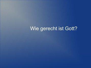 Wie gerecht ist Gott? - EFG Hemsbach