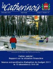 Décembre 2010 - Ville de Sainte-Catherine-de-la-Jacques-Cartier