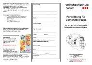 Fortbildung für Demenzbetreuer - Volkshochschule Husum