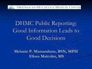 Information About Quality Reports for Healthcare Providers