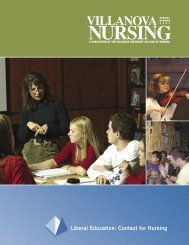Liberal Education: Context for Nursing - Villanova University
