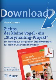"""Ziehps, der kleine Vogel - ein """"Storymailing-Projekt"""""""